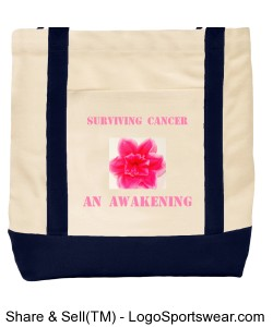 Cancer survivor Ensigns Boat Bag Design Zoom