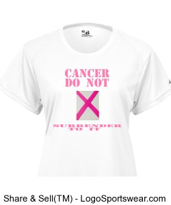 NOT SURRENDRING TO CANCER Design Zoom